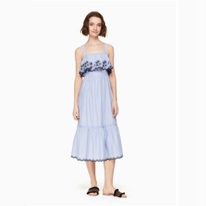 Kate Spade Daisy Embroidered Patio Dress XL NWT
